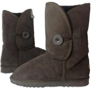Single Button Ugg - Chocolate - Empire Ugg Boots