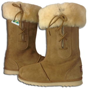 Eskimo Tall Empire Ugg Boots - Chestnut